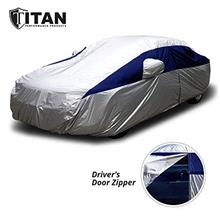 Titan Lightweight Car Cover (Midnight Blue) Compatible with Camry, Mustang, Ac
