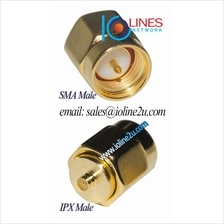 IPX male to SMA male full copper gold plated converter adapter 3G 4G Radio WIF