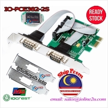 IOCREST/Syba PCIe 2 port RS232 Serial Interface Card High/Low profile Bracket