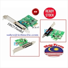 PCIe 1 port parallel DB25 card Win7/8/10 32/64Bit PCI-e WCH382 IOCrest/SYBA