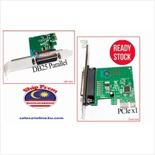 PCIe 1 port parallel DB25 card Win7/8/10 32/64Bit PCI-e WCH382 Free LP Bracket
