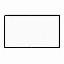 H100 100'' Portable Projector Screen HD 16:9 White 100 Inch Diagonal