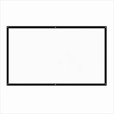 H84 84' Portable Projector Screen HD 16:9 White 84 Inch Diagonal