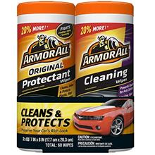 Armor All Car Interior Cleaner Protectant Wipes - Cleaning for Cars  & Truck