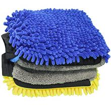 YWWY Car Wash Mitt - 12 X 8 Inch Extra Large Size Winter Waterproof Premium Ch