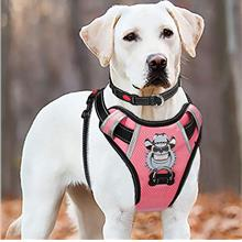 BABYLTRL Big Dog Harness No-Pull Anti-Tear Adjustable Pet Harness Reflective O