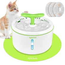 EPICKA Sprout Pet Fountain, 2L/67oz Cat Water Fountain with LED Indicator,