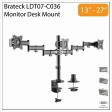 Brateck LDT07-C036 13-27 inch Triple 3 LCD Monitor Desk Mount Stand