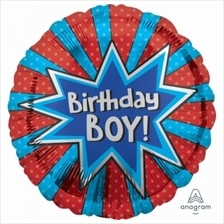 Birthday Boy Burst 18in Foil Balloon 35572 Party Decoration