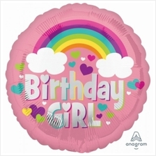 Birthday Girl Rainbow Fun 18in Foil Balloon 35571 Party Decoration