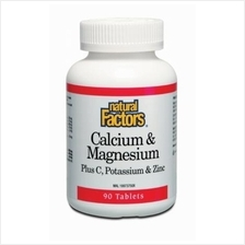 Natural Factors Calcium & Magnesium Plus C, Potassium & Zinc ( BONES
