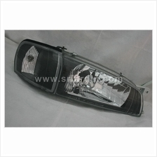 Subaru Impreza 93-00 Black Face Glass Crystal Headlamp Set
