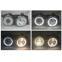 BMW E34 88-94 Glass Projector Headlamp w Ring