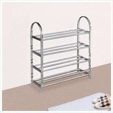 GTE UB Furniture 4 Tier Layers Stainless Steel Shoe Storage Rack