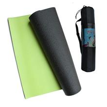 RCL YGM526 2-Color Yoga Mat (6mm) (Black & Green) (with Bag)