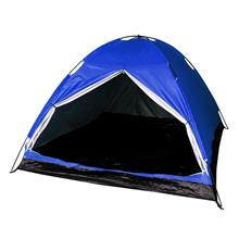 4 Person Camping Tent With Carry Bag (Blue)