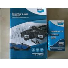 BENDIX GENERAL CT STEALTH FRONT BRAKE PAD for ALZA, WAJA