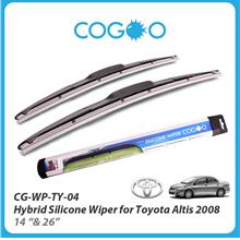 Cogoo Hybrid Silicone Wiper For Toyota Altis 2008 - 14' & 26'