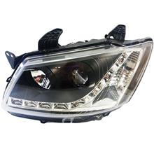 Proton Saga 2 BLM 2008 Head Lamp Projector Set With LED Stripe Black