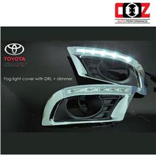 Toyota Camry 2009-2011 Fog Lamp Cover With LED Daylight DRL + Auto On