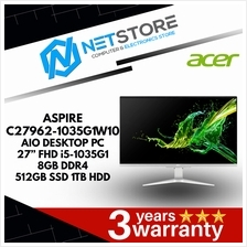 "ACER ASPIRE C27962-1035G1W10 27"" FHD AIO DESKTOP PC - i5-1035G1 8GB"
