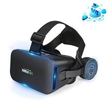VR Headset Compatible with iPhone and Android Phones - Universal 3D Virtual Re