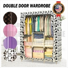 Double Door Fabric Cloth Wardrobe Closet Clothes Organizer Storage