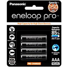 Panasonic Sanyo Eneloop Pro 2550mAh AA 950mAh AAA 4pc Battery 500Cycle