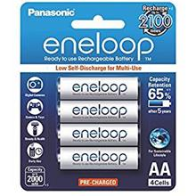 Panasonic Sanyo Eneloop 2000mAh AA 4pcs Battery 2100 Cycle NEW!