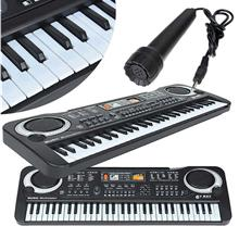 Multifunctional Mini Electronic Piano with Microphone 61 Keys Toy for