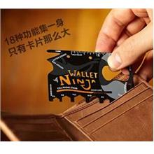 Wallet Ninja 18 in 1 Multi Purpose Credit Card Size Pocket Tool Screw