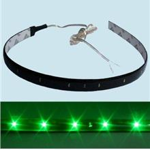 New Flexible Green 15 LED SMD Waterproof Car Light Strip 12V DC