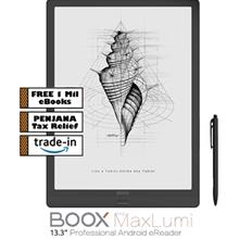 "BOOX Max Lumi 13.3 "" Android 10 eReader (64GB) Black + PU Leather Case + )"