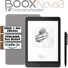 "BOOX Nova3 7.8 "" Android 10 eReader (32GB) with built-in Speaker 5GHz WiF)"