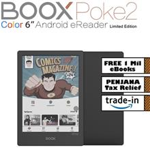 BOOX Poke2 Color Android 9 eReader (32GB) Type-C USB OTG Support Black + Free )