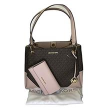 MICHAEL Michael Kors Nicole Large Shoulder Tote bundled with Michael Kors Jet