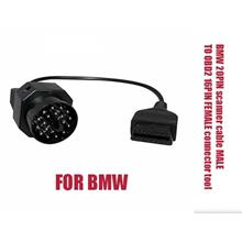 BMW 20PIN scanner cable MALE TO OBD2 16PIN connector 16pin to 20Pin