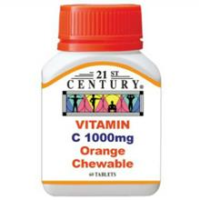 21st Century Vitamin C 1000mg Orange Chewable (60'S)