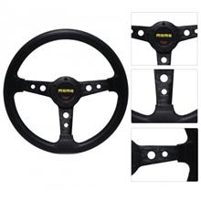 340mm 8906A BLACK Sport Steering Wheel With Horn Button