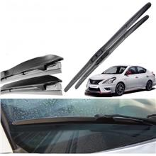 Nissan Almera Silicon Wiper Three Section Fully Press 21/14 1 Set 2 Piece