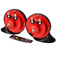 2pcs TYPE R Racing 12V Red Air Horn Snail Set Loud Dual Twin Tone