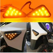 Triangle Turn Signal LED Smoke Lens+ Adjustable Relay RS150 FZ150 Superbike
