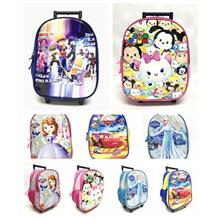 Cartoons Kindergarten Girl & Boy Kid Trolley School Bag Backpack Gift Bag