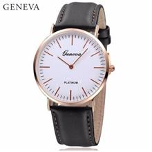 Geneva Minimalism Leather Wristwatch Fashion Women's & Men's Watch