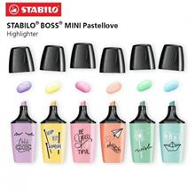STABILO BOSS MINI Pastellove Highlighter Pen and Text Marker (Set Of 6 Pcs)