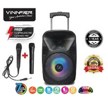 Flipgear Tango 212WM Portable Trolley Bluetooth Speaker Karaoke system FM USB