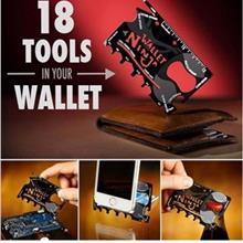 Ninja Wallet 18 in 1 Credit Card Size Tools Multi-Purpose Multi-Function Tool