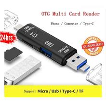 5 in 1 USB 3.0 Card Reader Type C / USB / Micro USB SD TF Memory OTG Adapter A