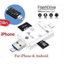 iPhone IOS Micro USB 3 In 1 Multifunctional OTG Card Reader iPhone Micro SD SD