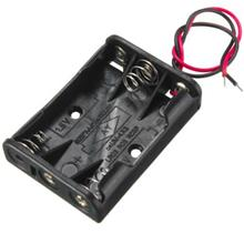 3-Slot Battery Holder for 3 X AAA Casing With Wires